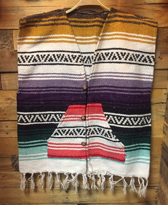 1970's New Old Deadstock Mexican Poncho Serpico st