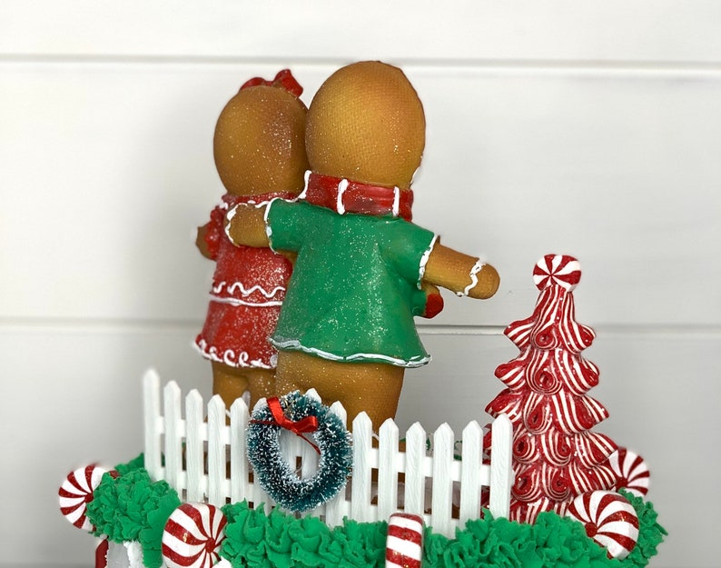 Gingerbread Fake Cake Faux Christmas Cake Centerpiece Fake decorated cake Fake Christmas Cake