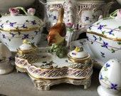 Vintage Herend Rothschild Birds - Inkwell
