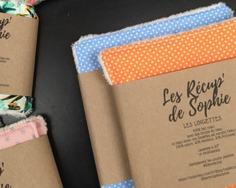 Lot of large washable and reusable wipes