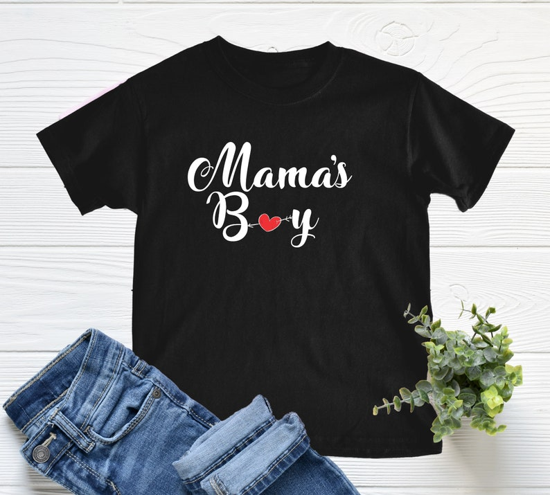 Gift For Boy Kids T Shirt Boys Clothes Personalized Gift For Kids Mother/'s Day Gift Birthday Gift For Boy Mama/'s Boy