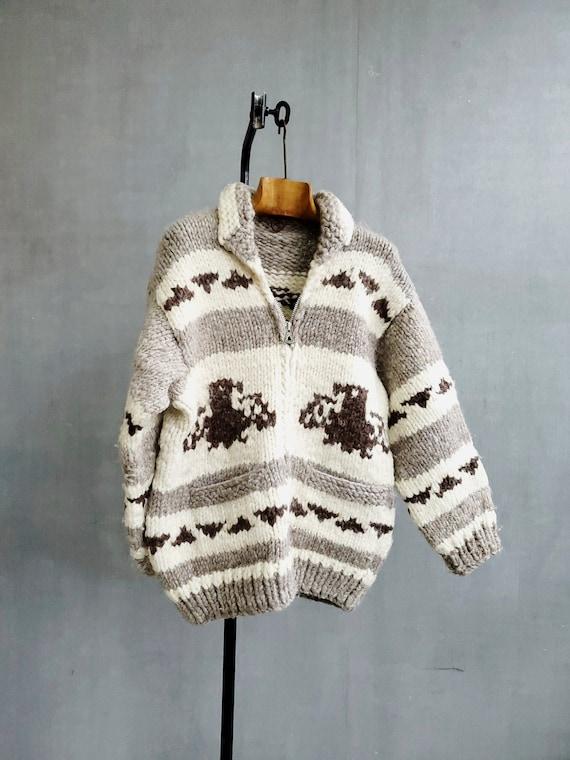 Vintage Cowichan Sweater Cowichan Jacket / Thunder