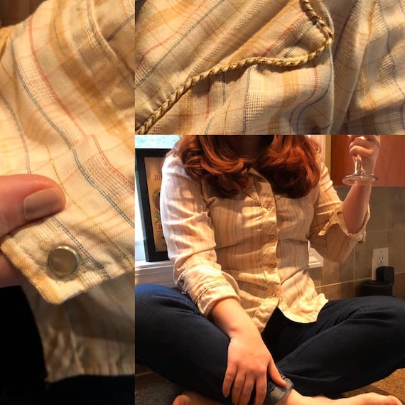 1970s Tem Tex Western Style Shirt with Pearl Snap… - image 2