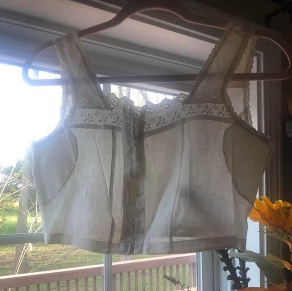 White Antique Edwardian Brassiere