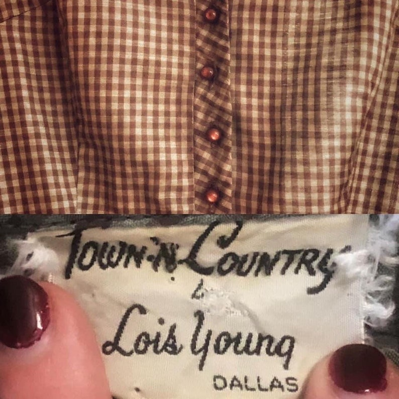 1950s Day Dress by Town-n-Country Lois Young Dallas