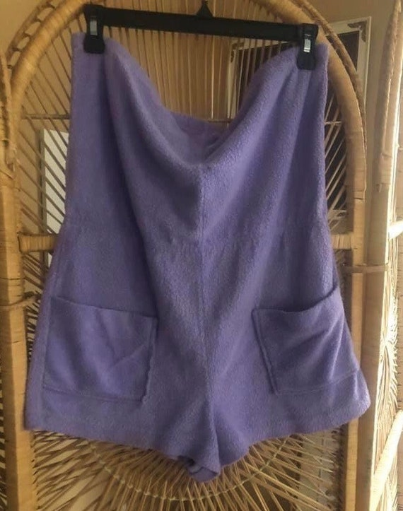 1970s Terry Cloth Romper in Lavender