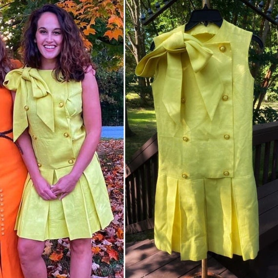 1960s Scooter Dress with Dropped Waist and Pussy B