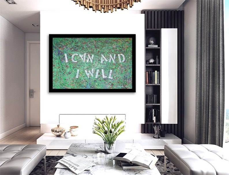 COA Signed I Can and I Will Giclee Print on Paper Limited Edition