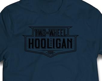 Motorcycle T Shirt, Two-Wheel Hooligan Shirt, BMX, Chopper, Biker, Bike Shirt