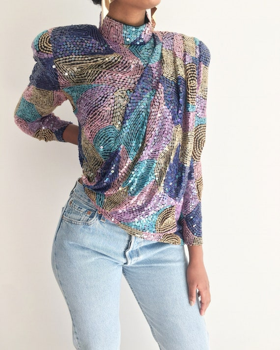 Vintage Sequin Top