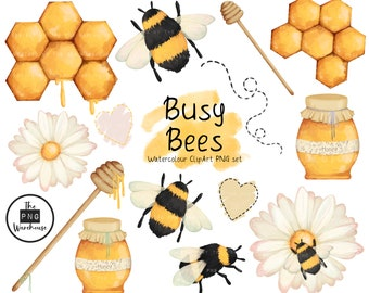 Busy Bees Clipart Etsy