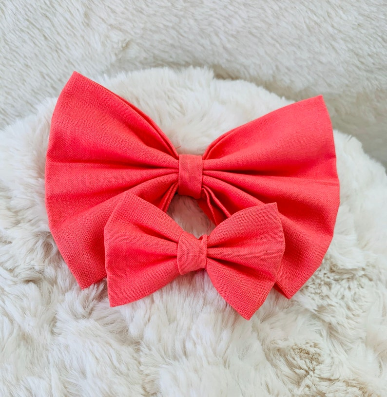 Yellow Hair Clip Pink Hair Band Bright Hair Accessories. Summer Gifts Orange Hair Bow Pastel Hair Bow Fabric Hair Bow Peach Hair Bow