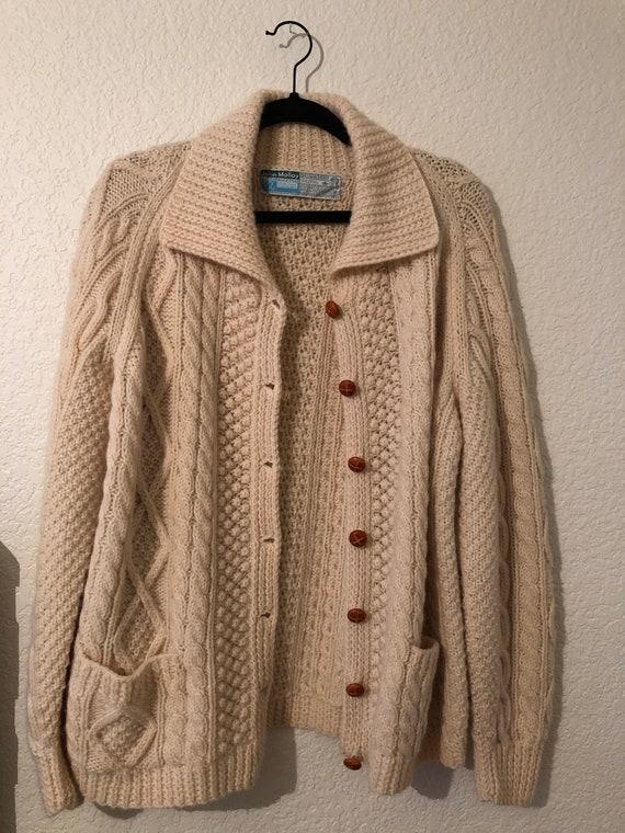 Gorgeous Cable Knit Cardigan // Vintage // Ireland
