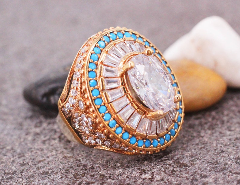 Sterling Silver 925 Zircon Handmade Ring Gift for her Ottoman Style Ring Silver 925 Ring Silver Ring Ottoman Style Ring,Zircon Ring
