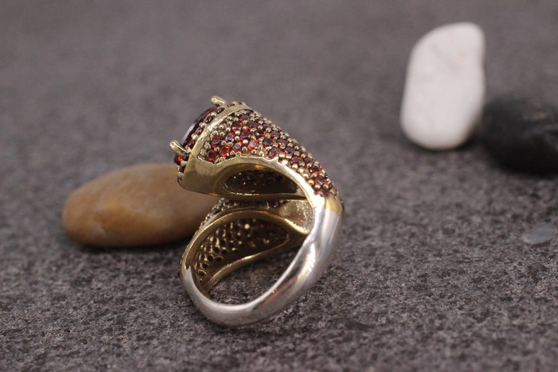 Silver 925 Ring Sterling Silver 925 Ruby Handmade Ring Ottoman Style Ring Gift for her Silver Ring,Ottoman Style Ring,Ruby Ring