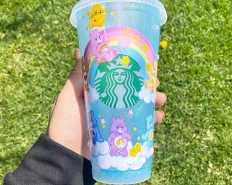 Care bear Starbucks cup- message for customization. Please read description before purchasing