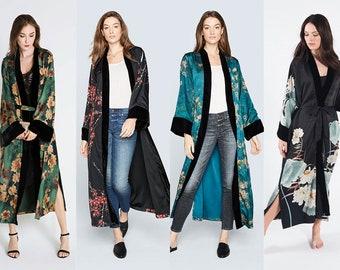 Kimono Wrap (Multiple Designs) - Long | KIM+ONO Charmeuse Collection - Gifts for Brides, Birthdays, Anniversaries, Christmas Party