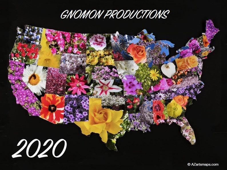 2020 Calendar USA Collage Wall Calendar by AZ Arts Maps and image 0