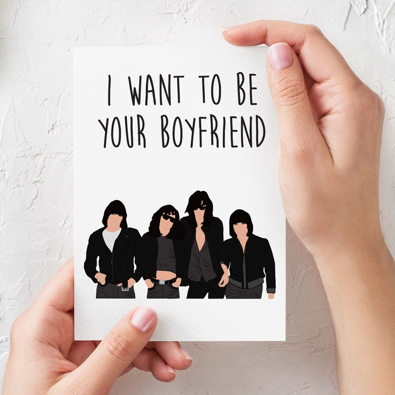 Ramones I want to be your boyfriend Funny birthday image 0
