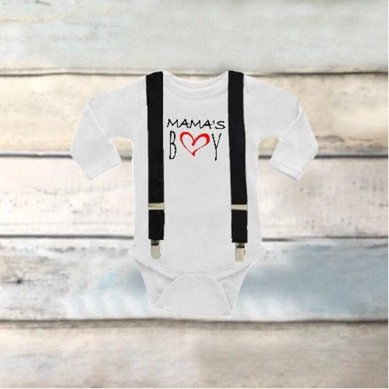 Toddler boy clothes Mamas boy onesie Valentines day shirt boys