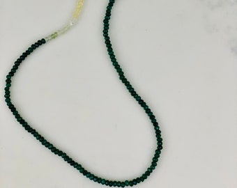 Green Prehnite Crystal Necklace  Lucite Charm Energy Charged Scalar Frequencies