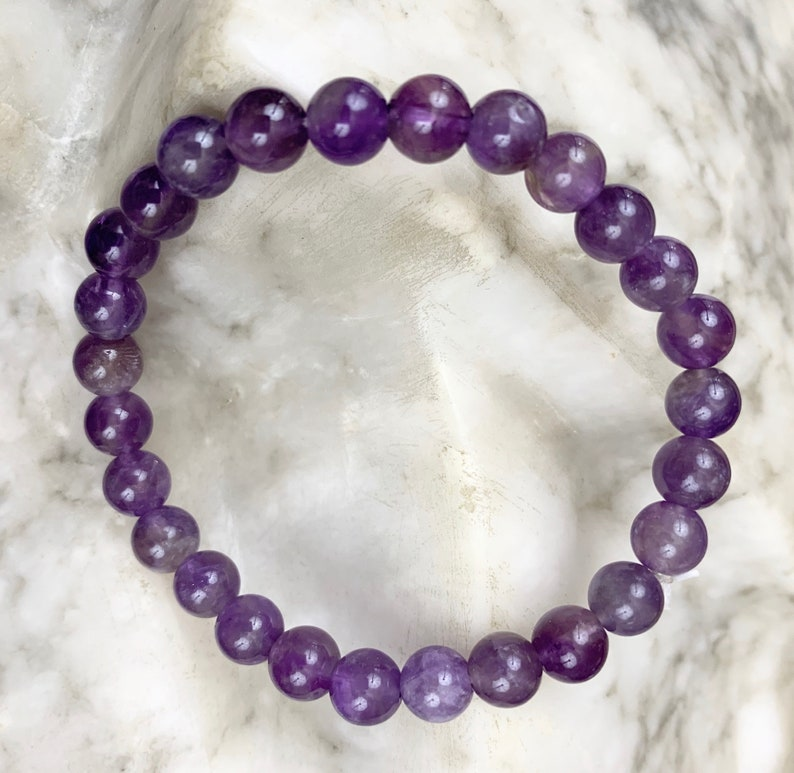 Scalar energy frequency charged amethyst crystal bracelet