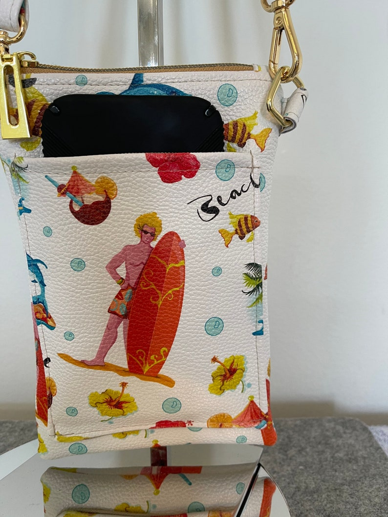 Minimalist Purse Faux Leather Small Bag Smartphone Sling Cellphone Crossbody Bag Messenger Slim Purse