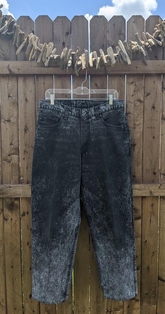 Levi's White Tab Acid Wash Jeans