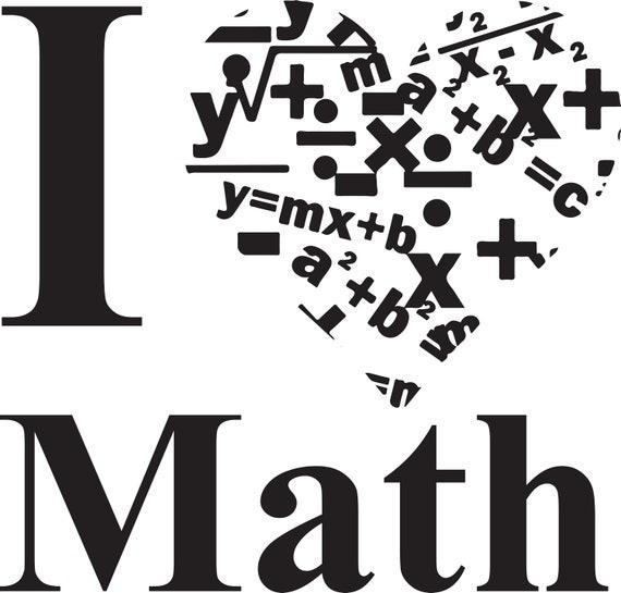 I Love Math | Etsy