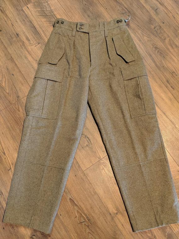 Vintage Wool Cargo Pants / Wool Pants / Vintage Pa