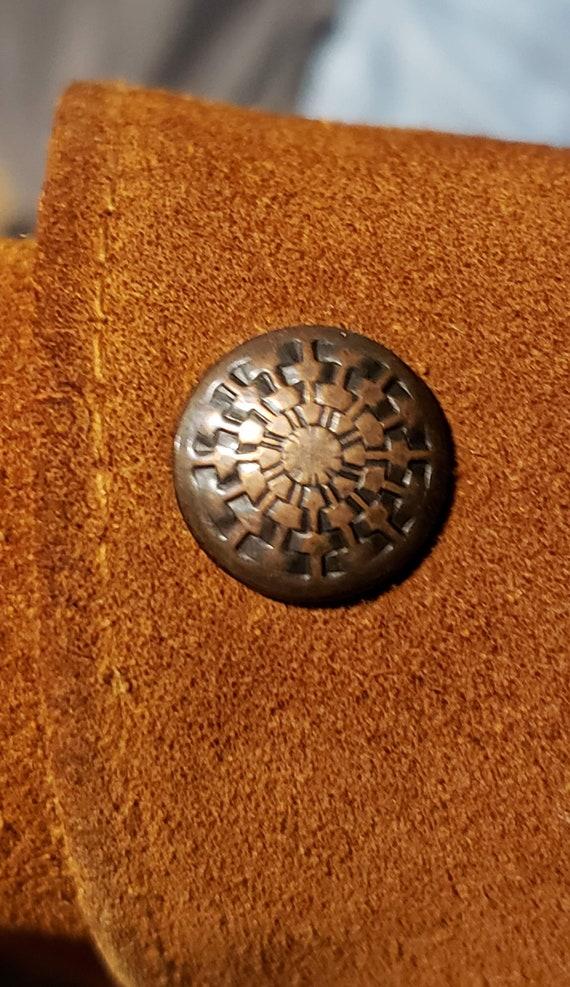 Leather Vest / Suede Vest / Vintage Vest / Vintag… - image 4