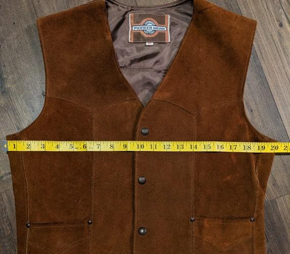 Leather Vest / Suede Vest / Vintage Vest / Vintag… - image 5