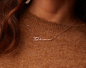Perfect Gift for Her • Minimalist Name Necklace by CaitlynMinimalist in Sterling Silver, Gold and Rose Gold • NH02F66 photo