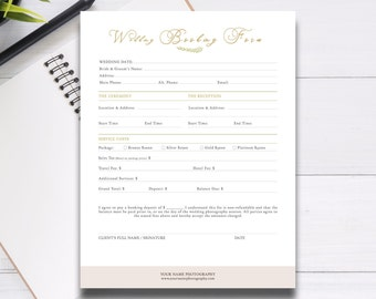 Wedding Photography Contract Template Contract For Etsy