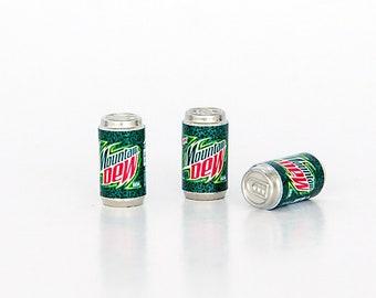 3 Miniature soda cans Props replica