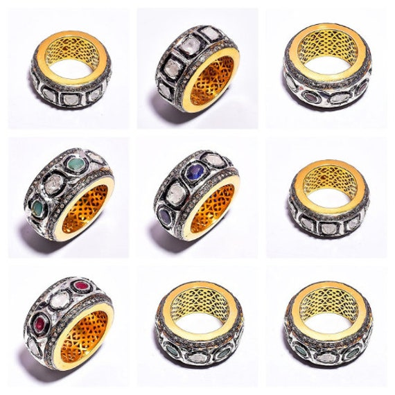 Crystal Rosecut Natural Gemstone 925 Solid Sterling Silver Jewelry Handmade Ring