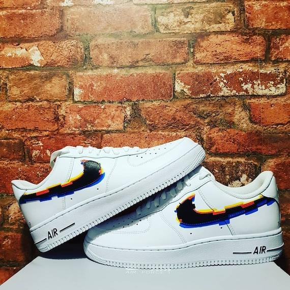 Custom Glitch Nike Air Force 1