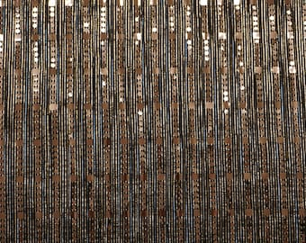 Sequin Bronze Pleated fabric