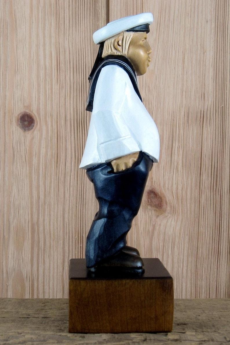 Seaman wood figurine