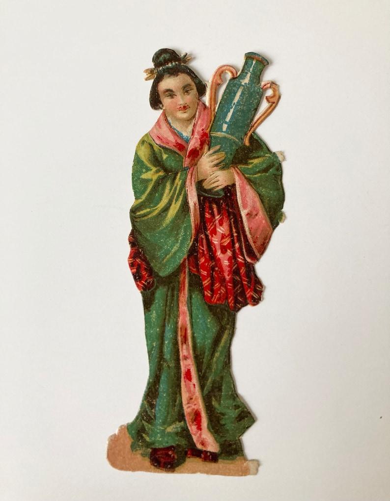 Antique Asian Victorian Paper Scrap