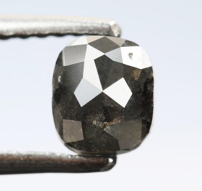 1.03 Ct Cushion Shape Fancy Black Color Natural Loose Beautiful Diamond 5.5 X 4.7 X 3.7 MM R243 Rings Wholesale Polished Loose Diamond