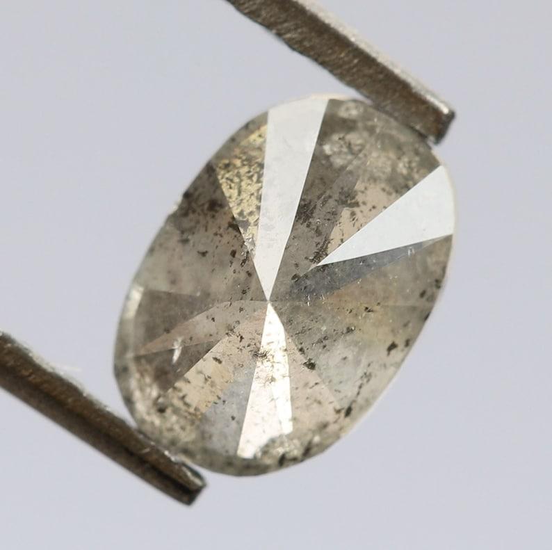 0.44 Ct R498 5.4 X 3.8 X 2.6 MM Oval Cut Salt and Pepper Natural Loose Beautiful Diamond,Brilliant Cut Diamond,Conflict free Diamond,Rings