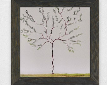 hand painted tree on watercolour paper (unframed) original