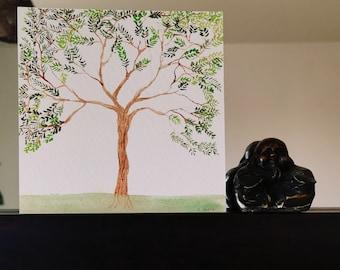 watercolour original art, the tree