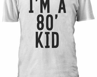 I/'m a 80/'s Kid 80/' TUMBLR Fashion T-shirt Vest Tank Top Men Women Unisex 1403