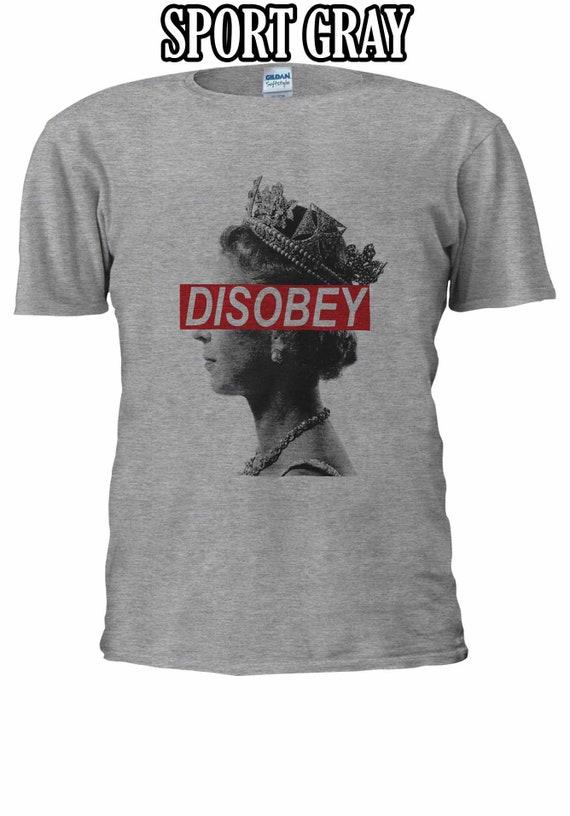 Queen Elizabeth DISOBEY Funny Indie T-shirt Vest Tank Top Men Women Unisex 1757