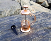 Rose Gold French Press 350ml, Beautiful Design, Top Quality Glass with Tight Seal