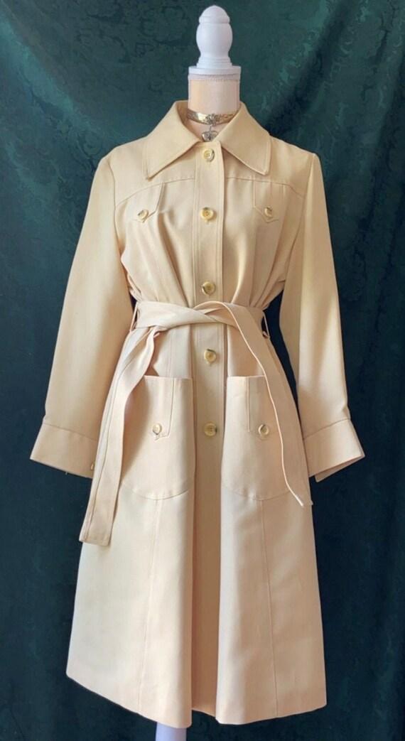 vintage 1970s yellow union raincoat