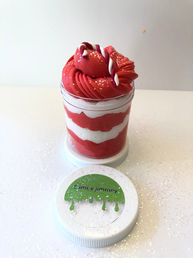 Candy Cane Buttercream Slime image 0