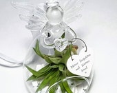Glass Angel Air Plant Terrarium Sympathy Gift Never forgotten and always loved